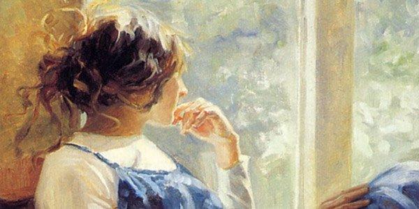 Задумчивая девушка живопись