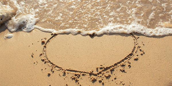 сердце песок